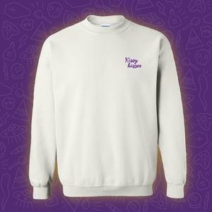Image of Kissy Kisses Embroidered Crewneck - Purple **PRE ORDER**