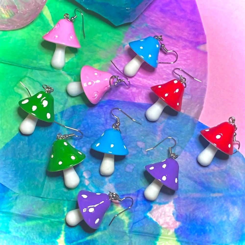 Image of MAGIC MUSHROOM EARRINGS