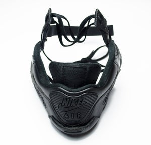 Image of SNEAKER MASK / AIR MASK 90 / BLACK LEATHER