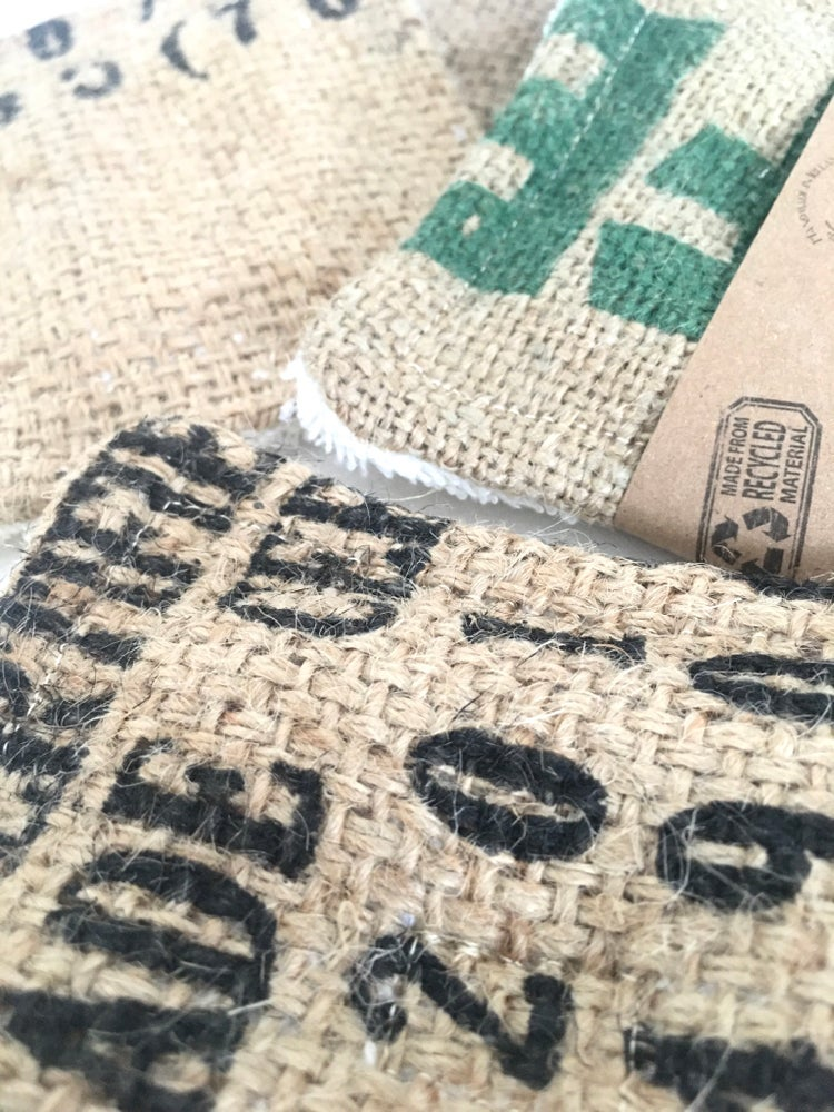 Image of Upcycled Coffee Sacks Reusable Kitchen Sponge/Scrubber