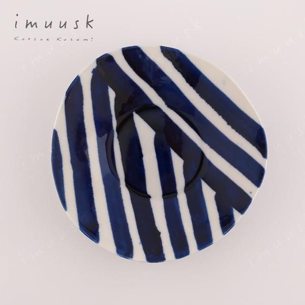 Image of Porcelain Plate Blue Zebra (M)
