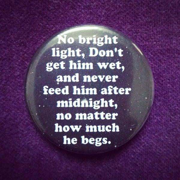 Image of badge gremlins - bright light