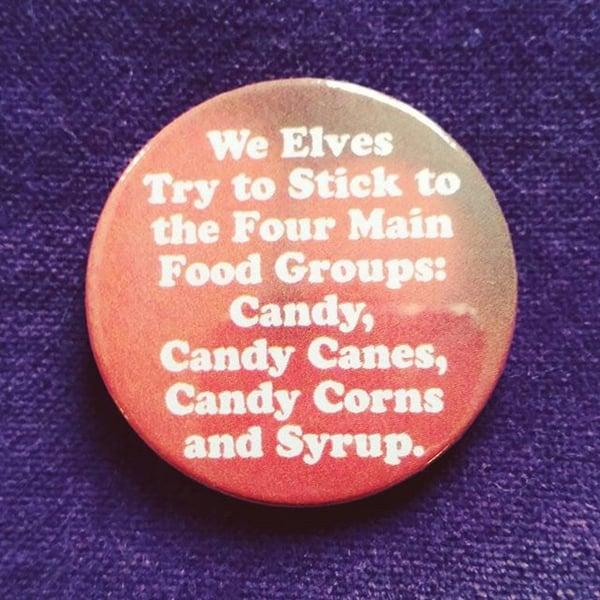 Image of badge elfe - elf - candy