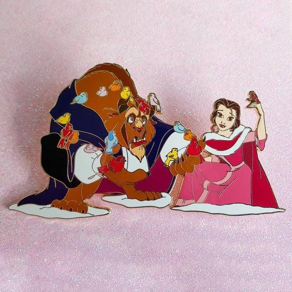 Image of fantasy pin's la belle et la bête - beauty and the beast