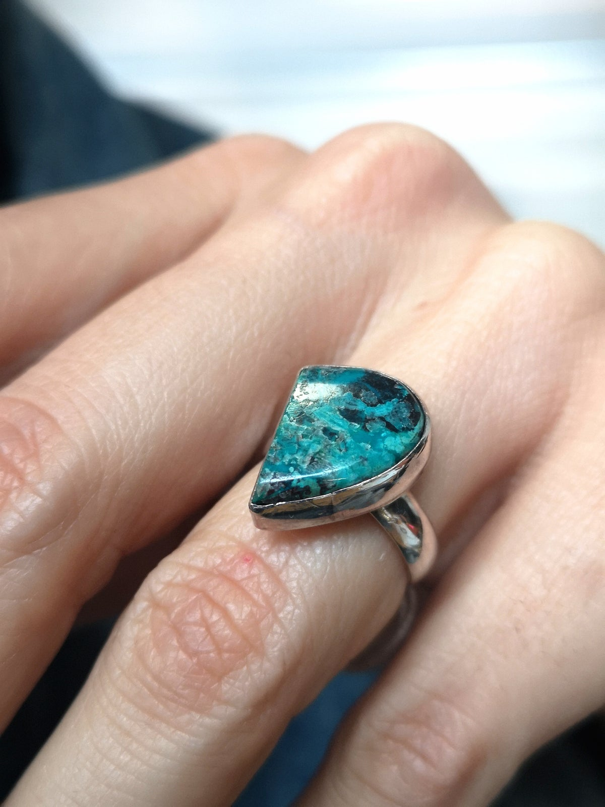 Image of Bague azurite taille 50,5 - ref. 835
