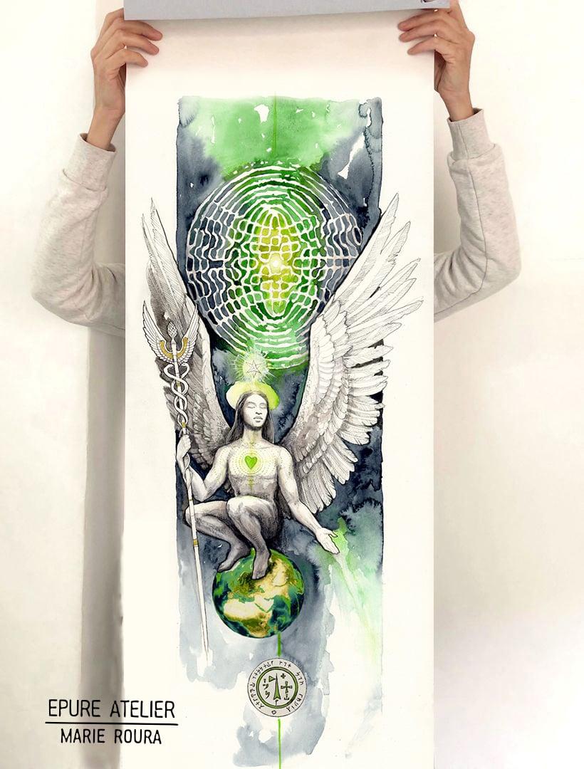 Archange Raphael Affiche XL
