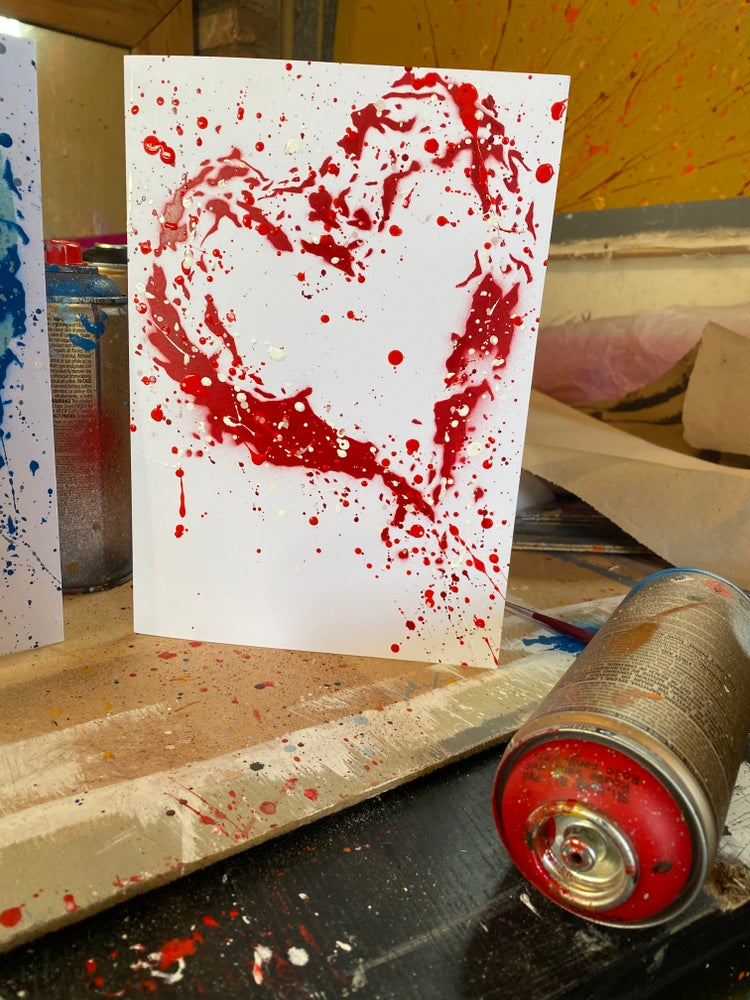 "Image of ""Heart"" - Valentines Card & envelope"