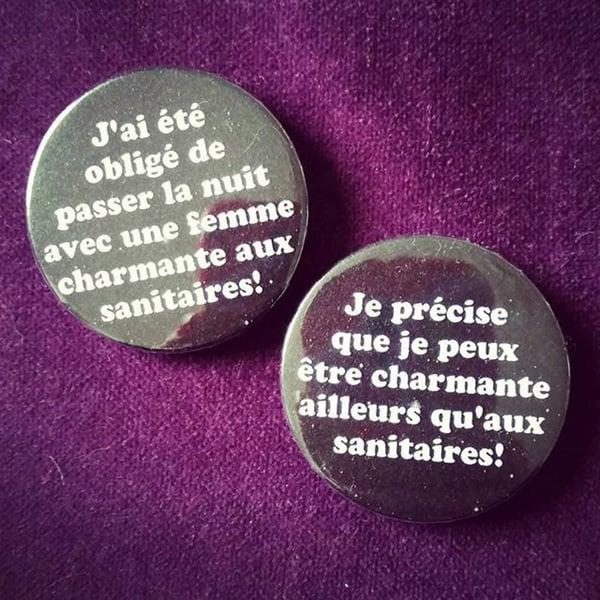 Image of pack badge les bronzés