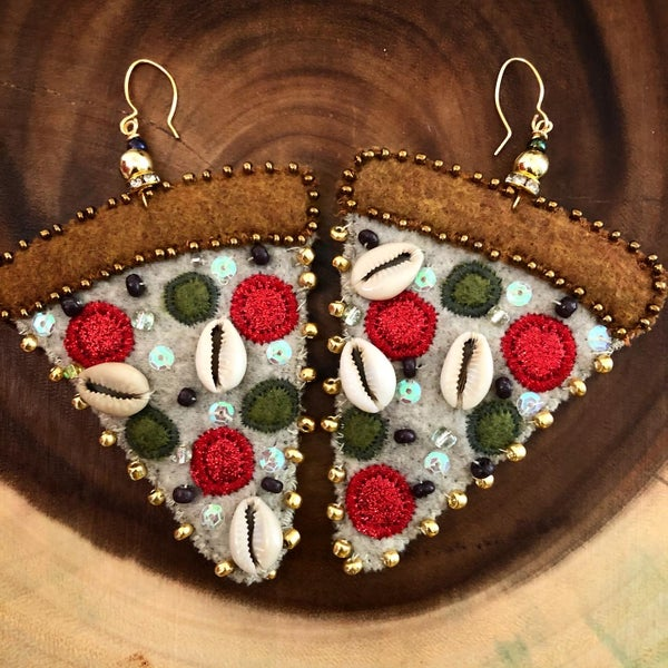 Image of It was All a dream~Vegan Pizza Earrings