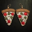 Image 2 of It was All a dream~Vegan Pizza Earrings