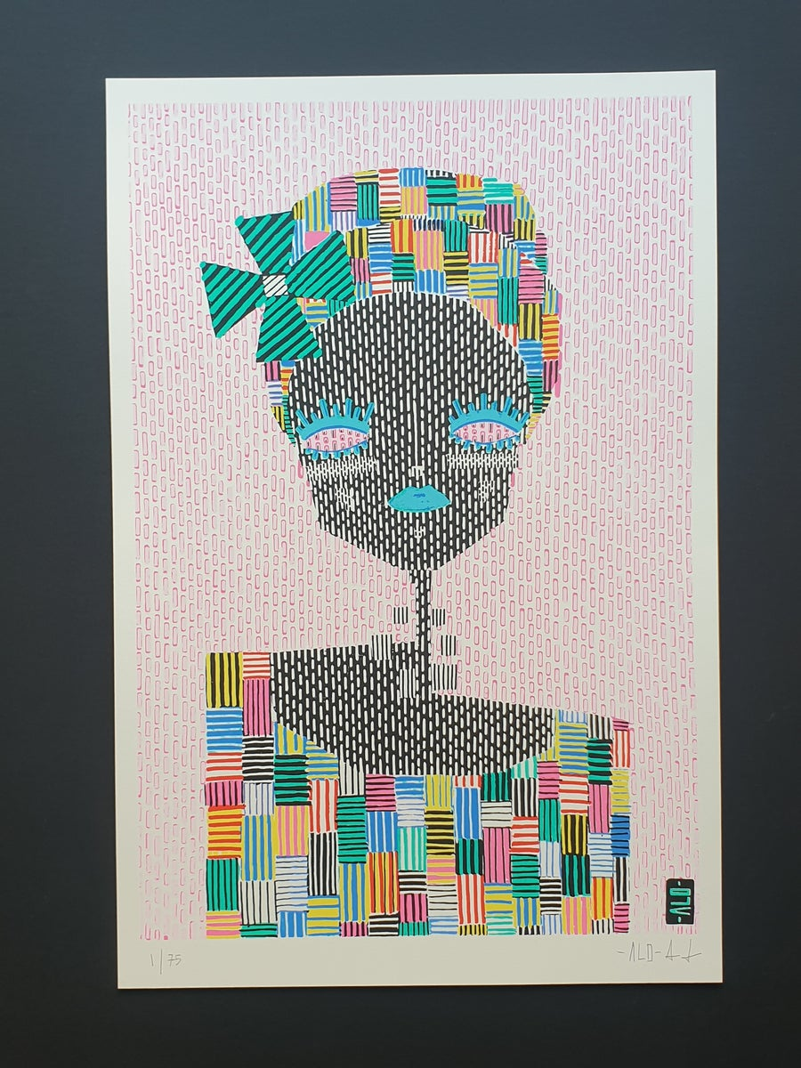 Image of 'Grace' screen print by ALO
