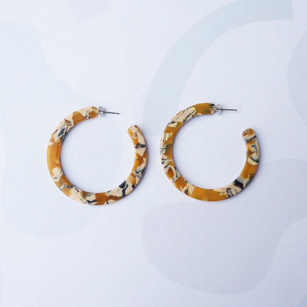Image of *NEW* Saffron Hoop Earrings
