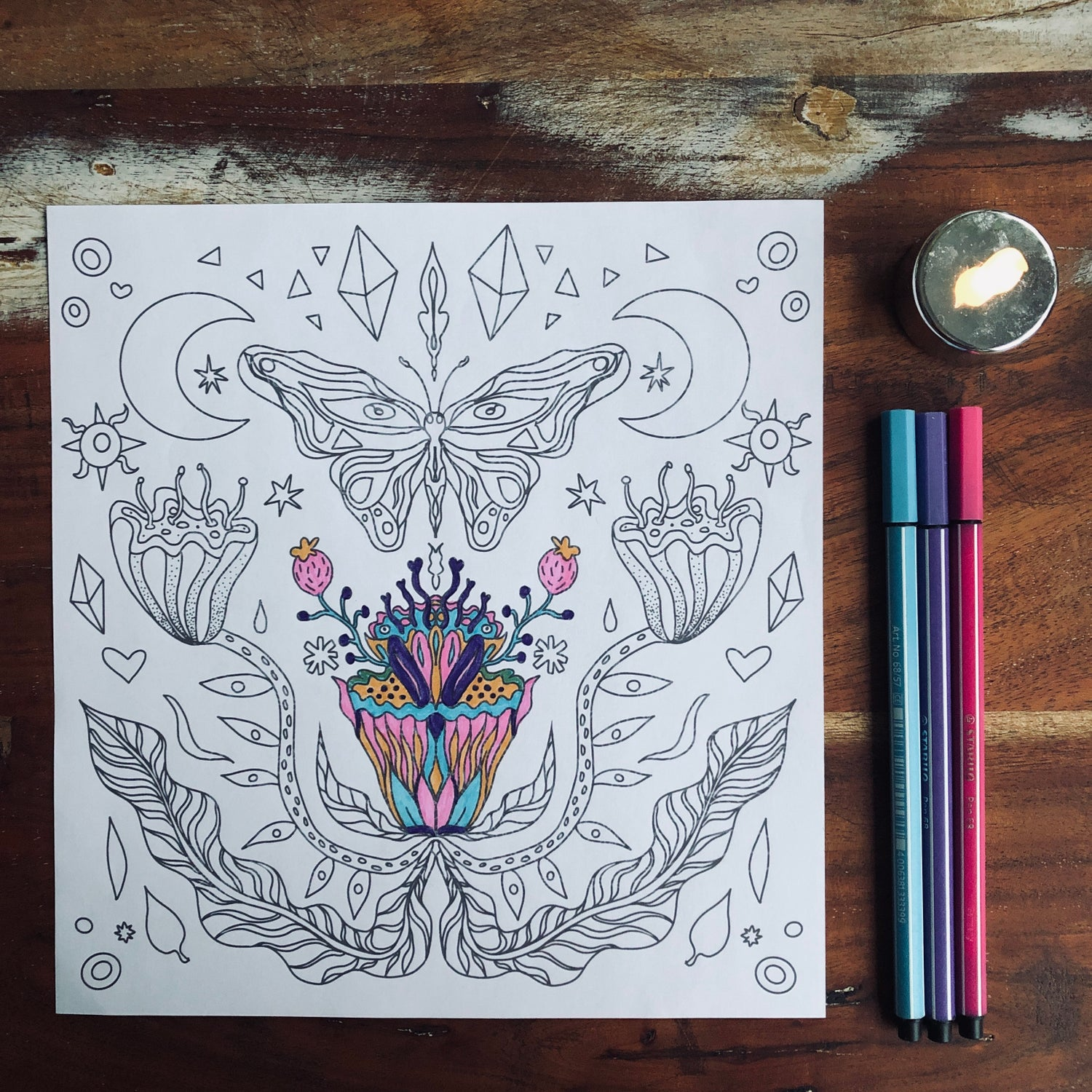 * coloring picture butterfly *