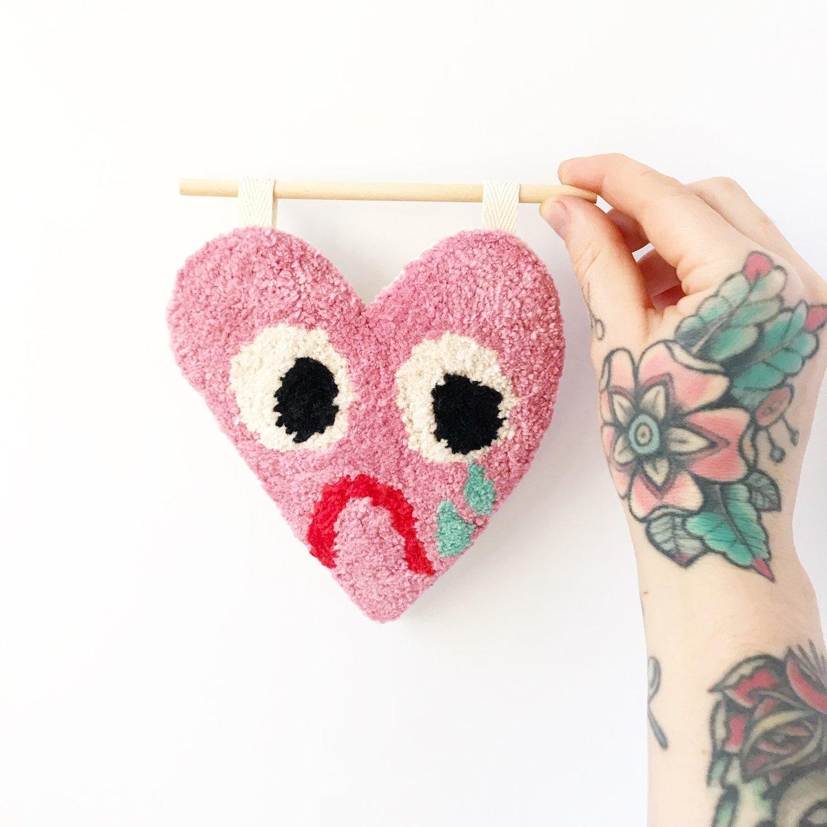 Sad Heart Tufted Wall Hanging