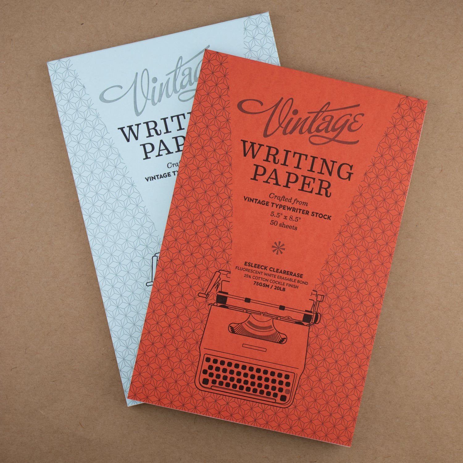 Vintage Writing Paper Pad (50 Sheets Red or Blue Cover/Ruling)