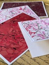Marbled Notecards Hearts Collection I