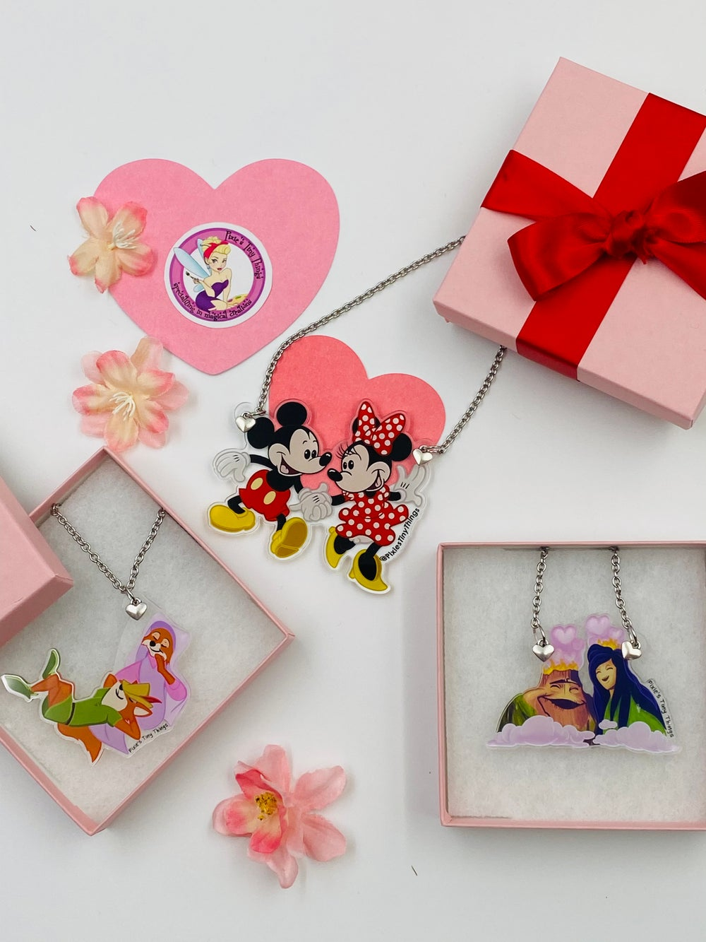 Valentine's Day Couple statement necklaces