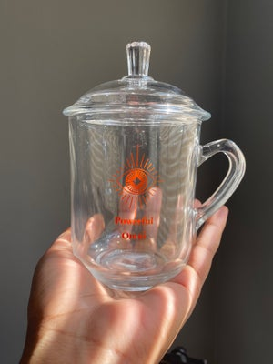 Clear glass tea cup