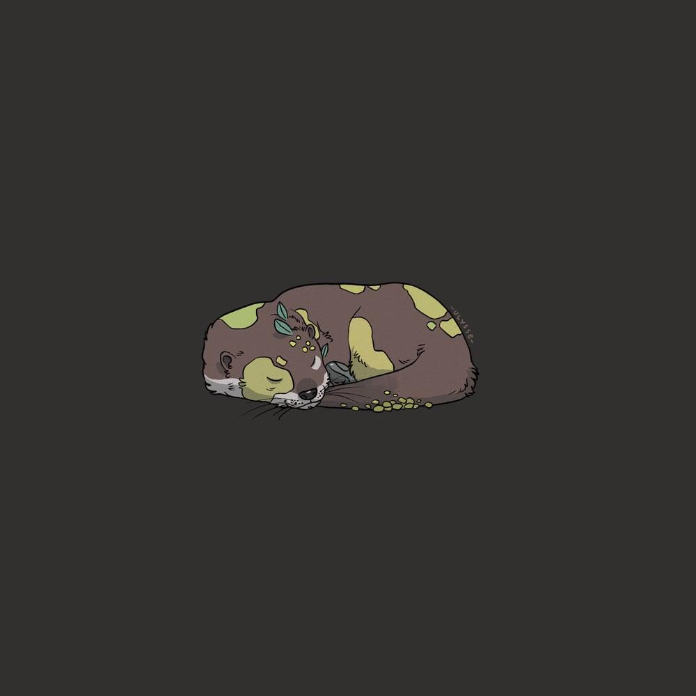 Image of Sticker - Mossy otter
