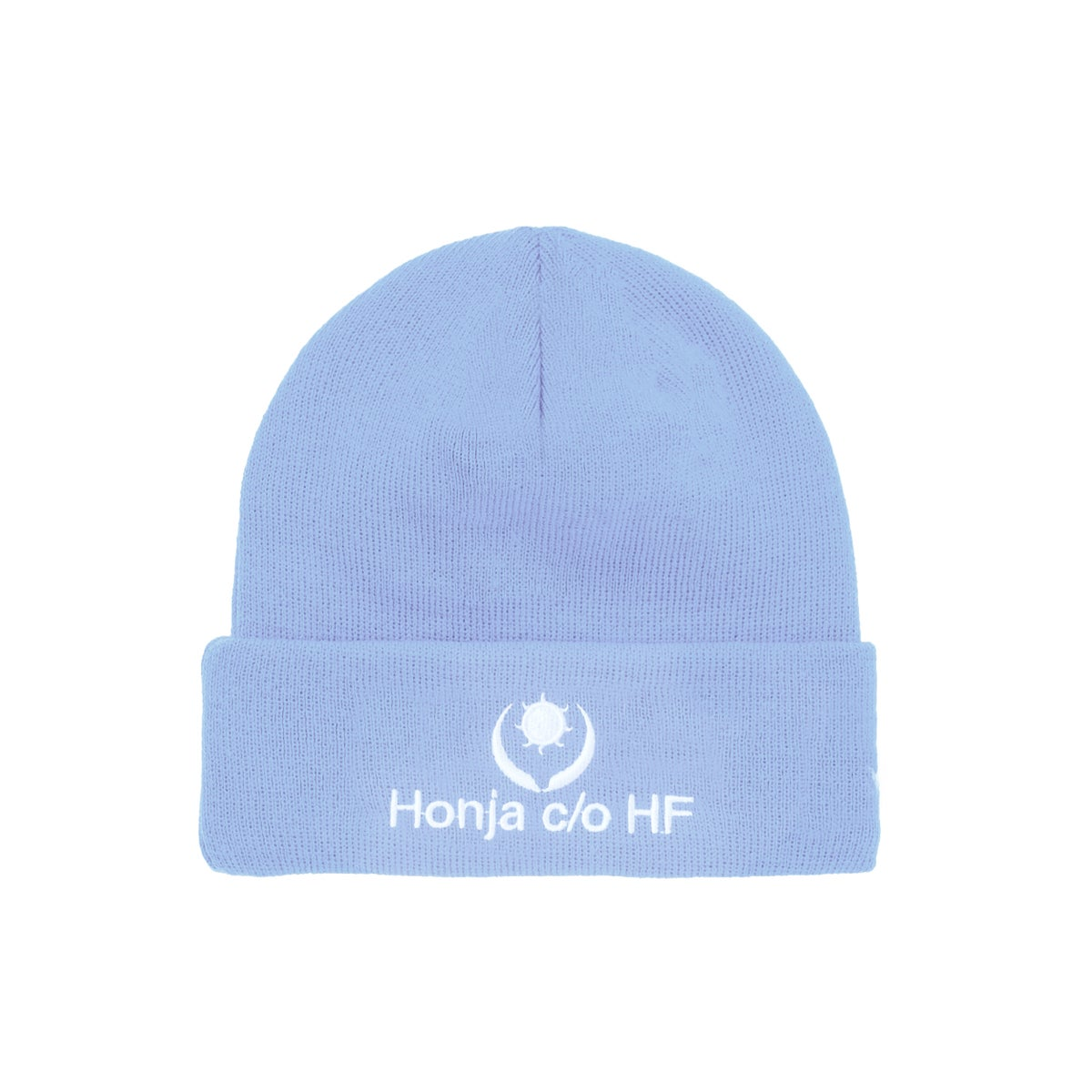 """Image of DOUBLE-SIDE """"L'HUMAIN BLEU"""" EMBROIDERED BEANIE - Baby Blue (Unisex)"""