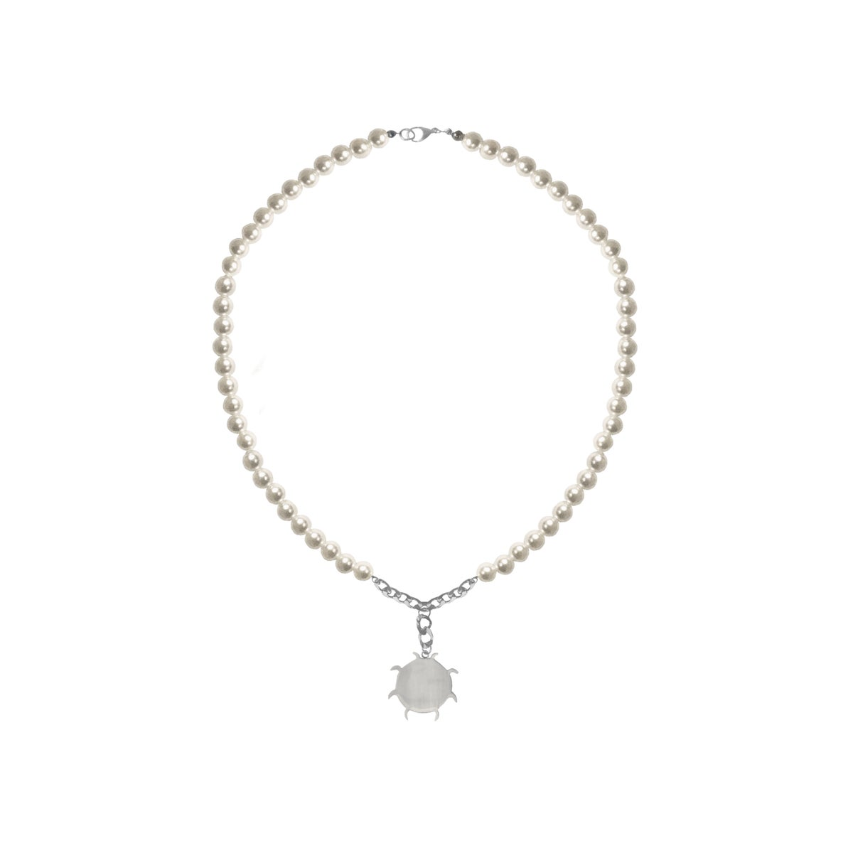 Image of SALES: PEARL SUN LOGO NECKLACE (unisex)