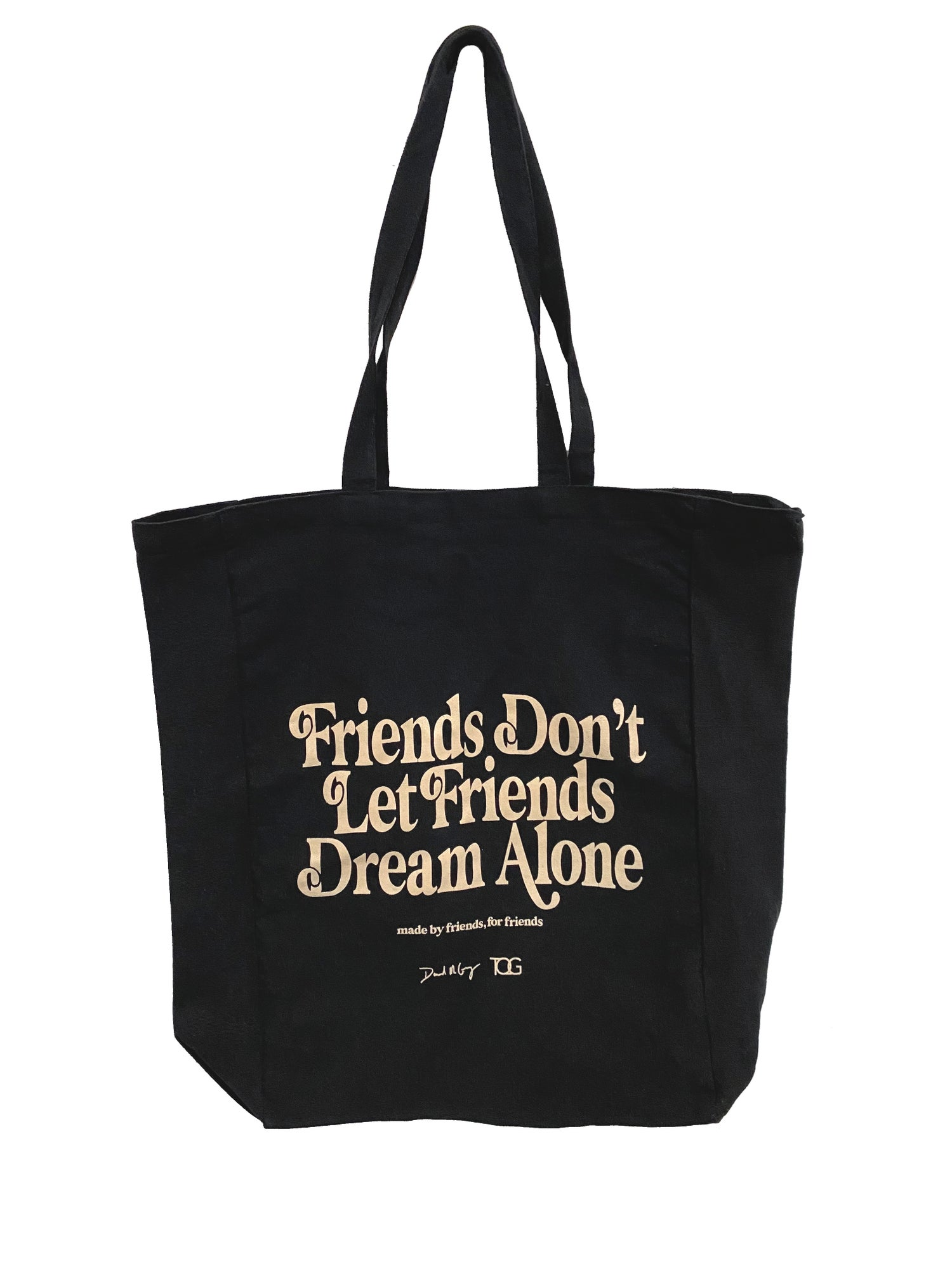 """Image of Black """"Made By Friends For Friends"""" Collaboration Canvas Dream Tote"""