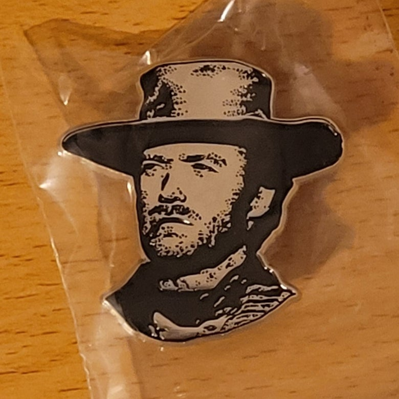 Image of Man from Malpaso..tribute to Clint Eastwood limited edition shaped enamel pin