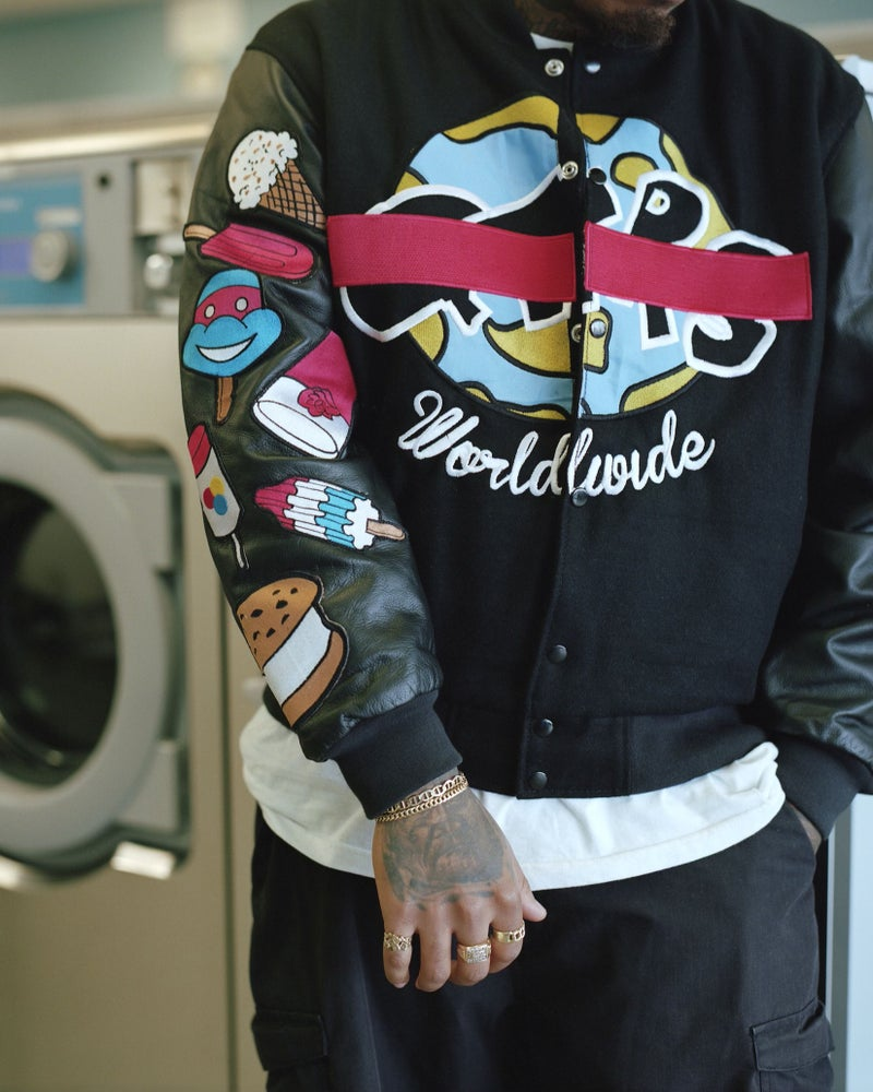 """Image of QTRS """"Big Perm 2.2 Blind Edition"""" Varsity Jackets"""
