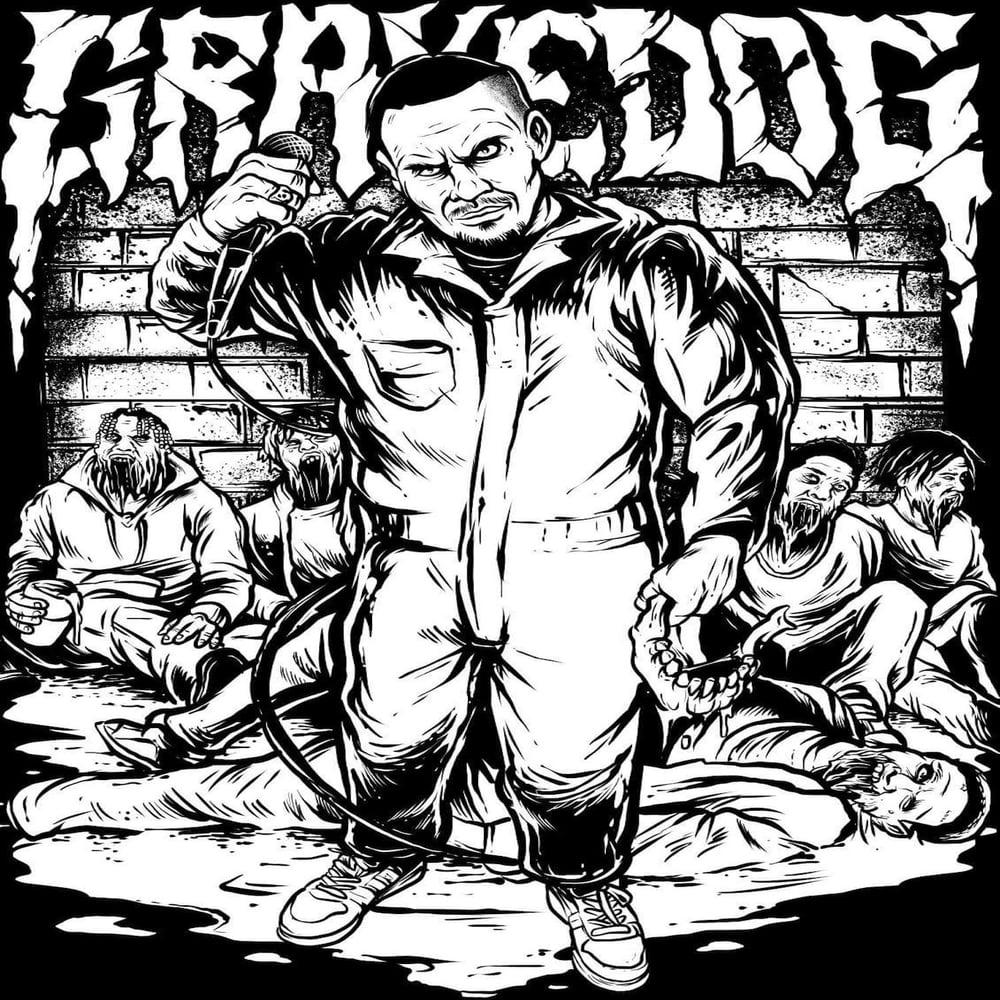 Image of GRAVEDOG 'Jackin Mics And Jaws' T-Shirt