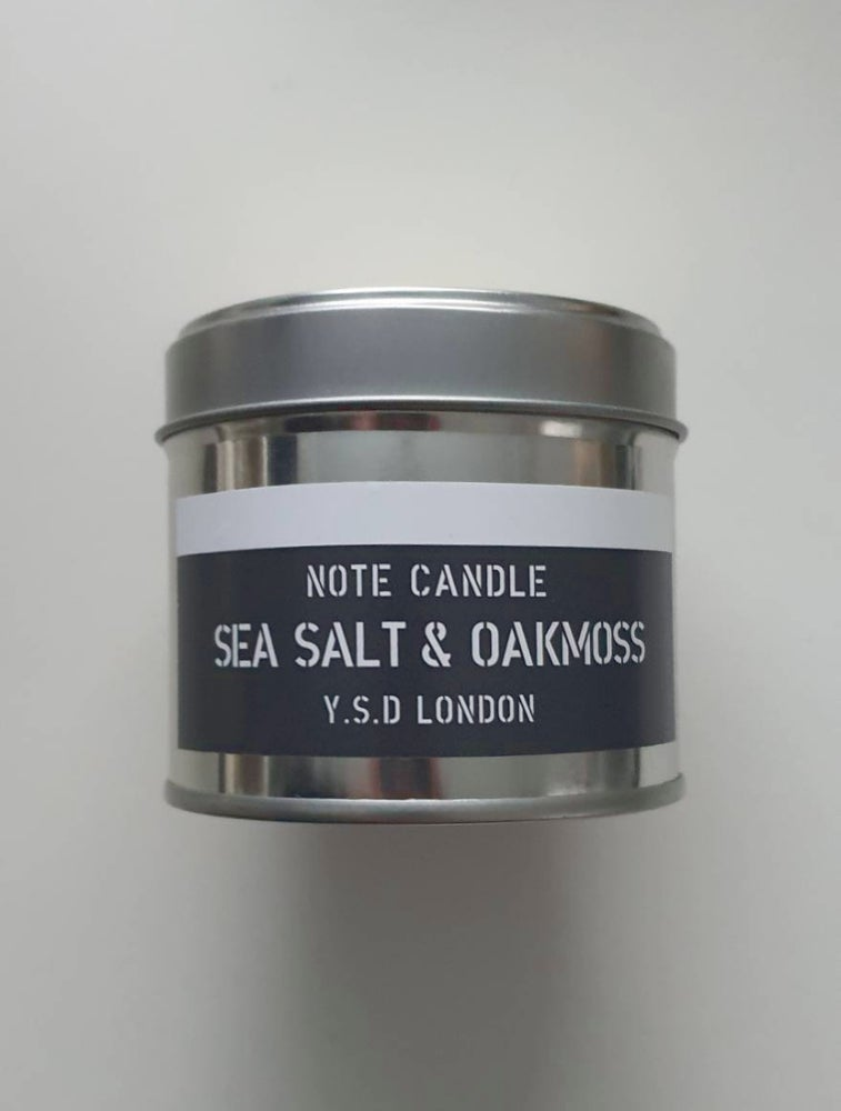 Image of SEA SALT & OAKMOSS NOTE CANDLE
