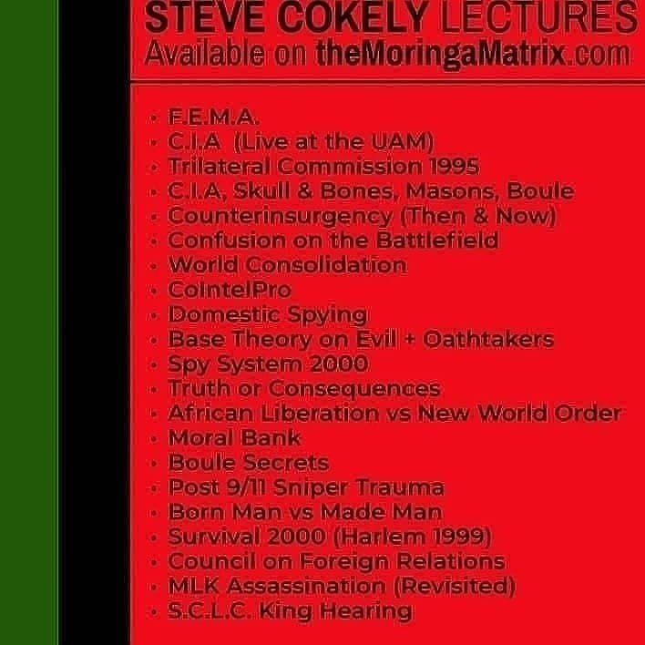 Image of Steve Cokely lectures dvds