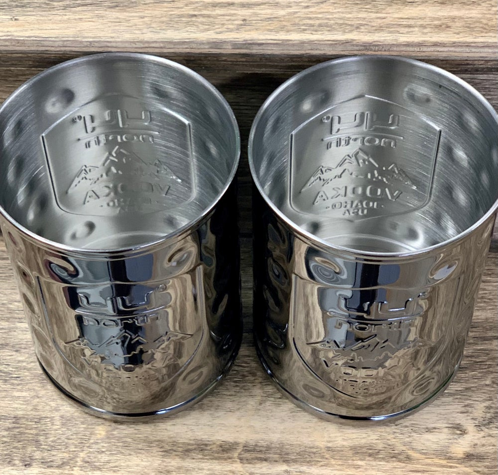 Image of Hammered Chrome Moscow Mule Cups