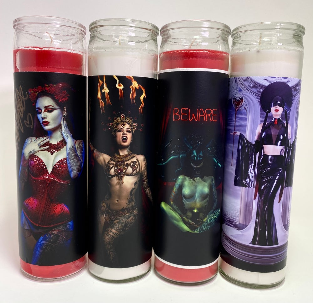 Pillar candles - 5 images to pick from