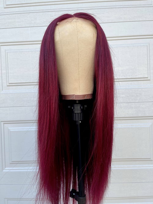 "Image of ""HARLEM"" Burgundy 24 inch 4x4 Lace Closure Wig"