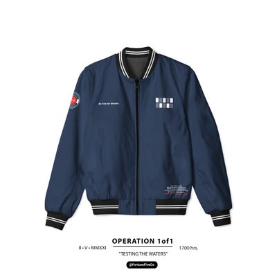 """Image of Risktakers """"Testing the waters"""" 1OF1 Bomber Jacket"""