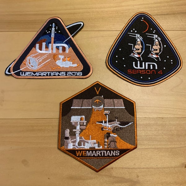 Image of Season 3, 4 & 5 WeMartians Podcast Commemorative Mission Patches - LIMITED EDITION