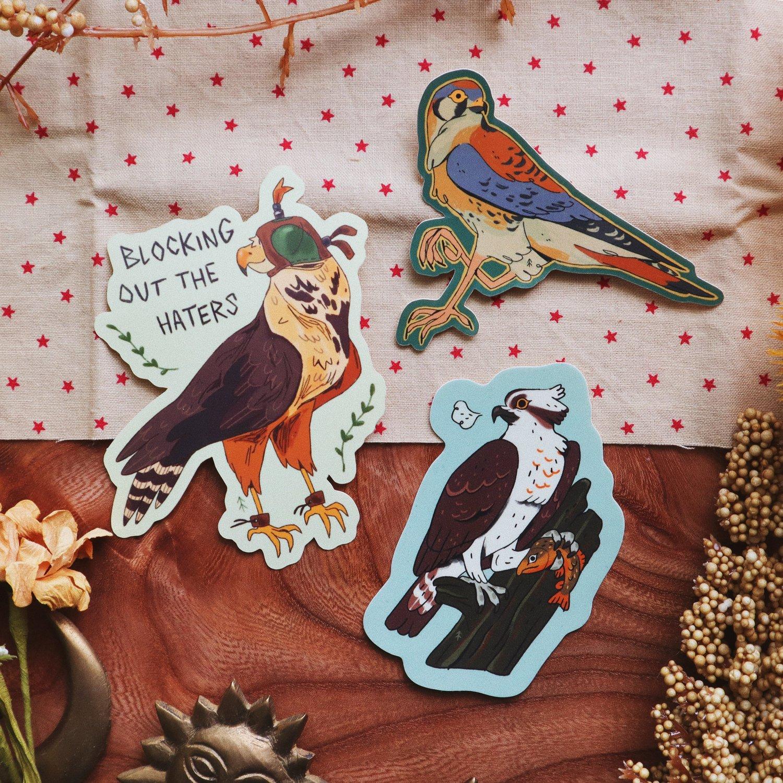 bird of prey sticker grab bag