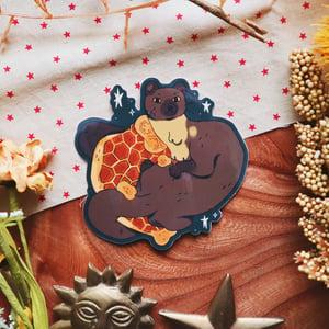 honeycomb marten sticker