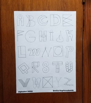 Alphabet Coloring Poster