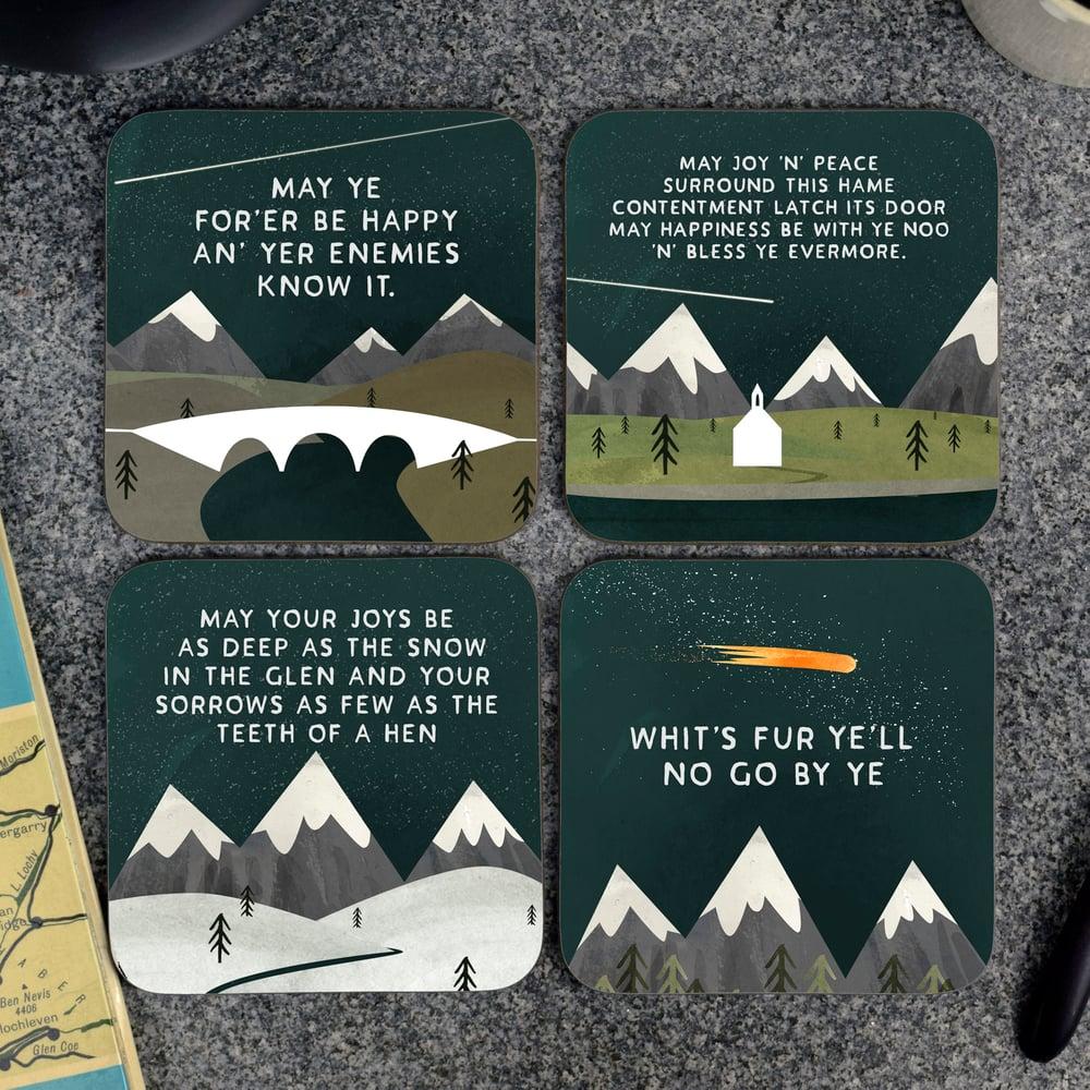 Image of Gift box of Scottish Mountain (Coasters)