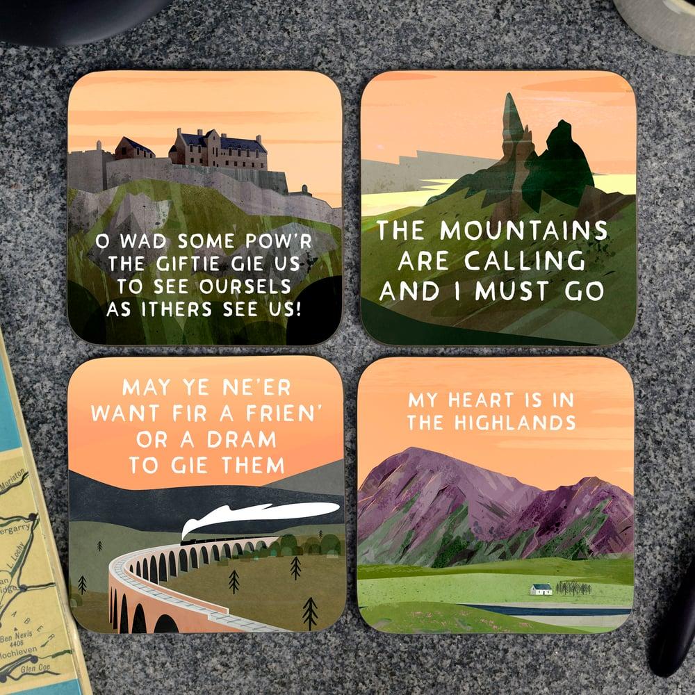 Image of Gift box of Scottish Landscape (Coasters)