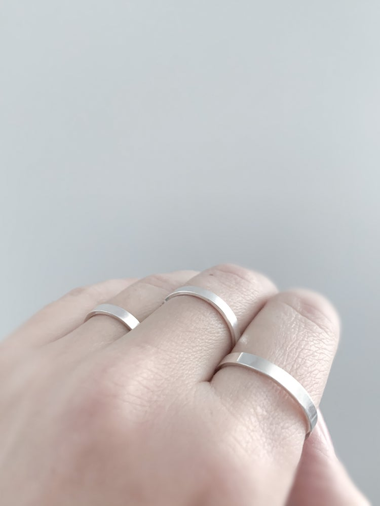 Image of Flat Stack Rings in Sterling Silver