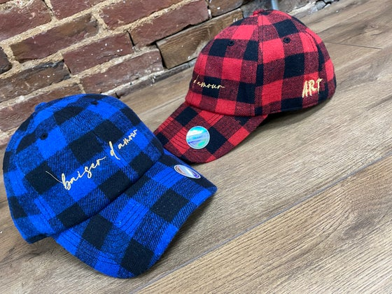 Image of Flannel dad hats