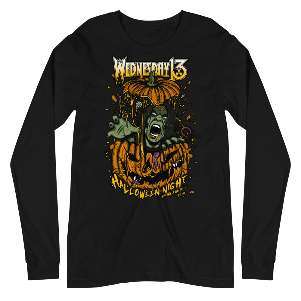 "Image of WEDNESDAY 13 ""HALLOWEEN BAT THINGS"" - UNISEX LONGSLEEVE"