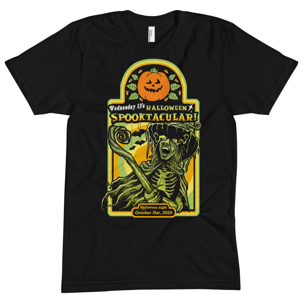 "Image of WEDNESDAY 13 ""HALLOWEEN SPOOKTACULAR"" - UNISEX TEE"