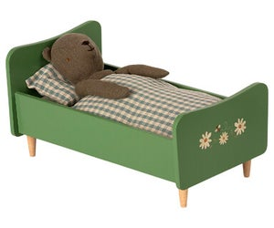 Image of Maileg - Wooden Bed Dusty Green for Teddy Dad