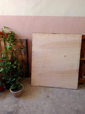 105cm x 120cm Frameless Wall Chalkboard
