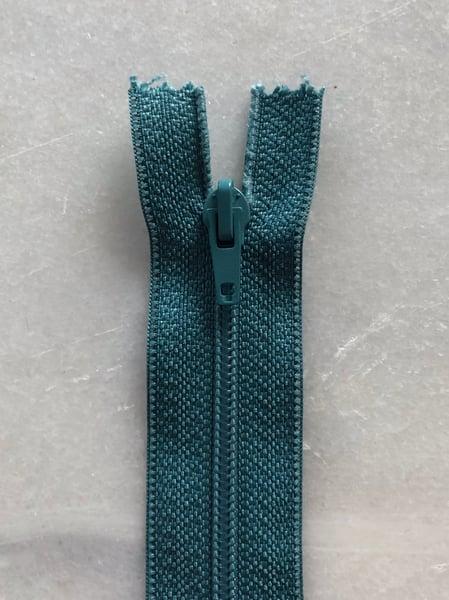 Image of Plastik lynlås 30 cm - mellem grøn