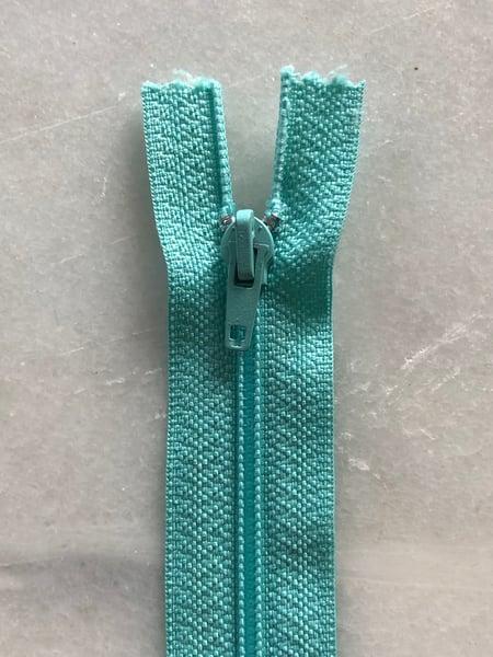 Image of Plastik lynlås 30 cm - mintgrøn