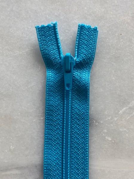 Image of Plastik lynlås 30 cm - turkis